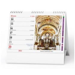 Stolní kalendář 2022 Katolický kalendář /kostely a kapličky/