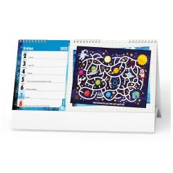 Stolní kalendář 2022 Kreativní kalendář pro děti