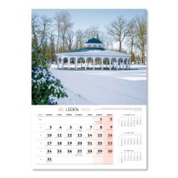 Nástěnný kalendář 2022 České a Slovenské lázňě