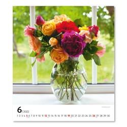 Nástěnný kalendář 2022 Květiny
