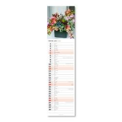 Nástěnný kalendář 2022 Kravata - Květiny CZ/SK