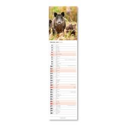 Nástěnný kalendář 2022 Kravata - Lesní zvěř CZ/SK