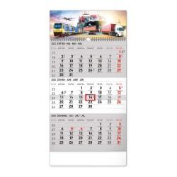Nástěnný kalendář 2022 3měsíční Spedice - šedý CZ