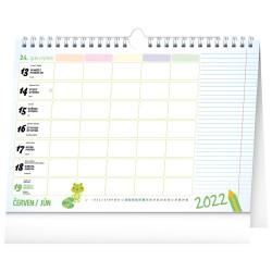 Nástěnný i stolní kalendář 2022 Rodinný plánovací s háčkem