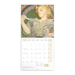 Nástěnný poznámkový kalendář 2022 Alfons Mucha