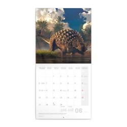 Nástěnný poznámkový kalendář 2022 Dinosauři