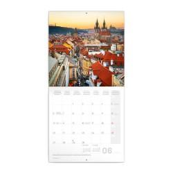 Nástěnný poznámkový kalendář 2022 Praha letní