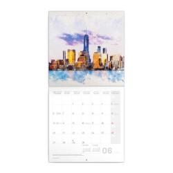 Nástěnný poznámkový kalendář 2022 New York