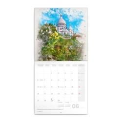 Nástěnný poznámkový kalendář 2022 Paříž