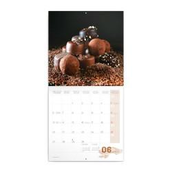 Nástěnný poznámkový kalendář 2022 Čokoláda, voňavý