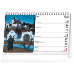 Stolní kalendář 2022 Josef Lada - Na vsi