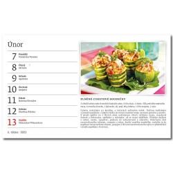 Stolní kalendář 2022 - Česká kuchyně