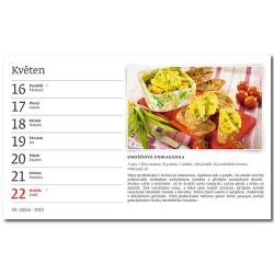 Stolní kalendář 2022 - Bezmasé recepty