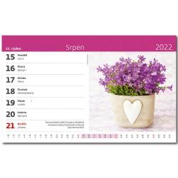 Stolní kalendář 2022 - Květiny
