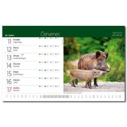 Stolní kalendář 2022 - Myslivecký kalendář