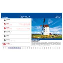 Stolní kalendář 2022 - Křížem krážem Českou republikou
