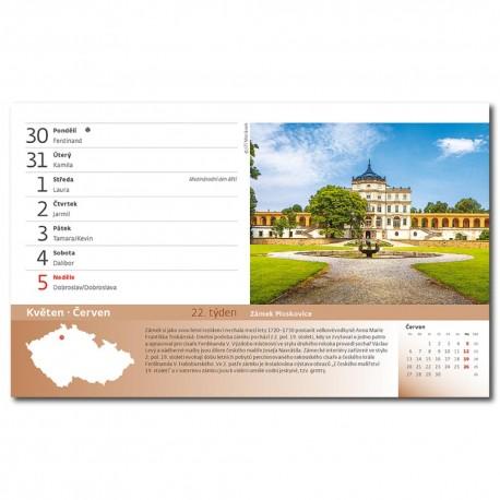Stolní kalendář 2022 - 55 turistických nej Čech, Moravy a Slezska