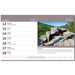 Stolní kalendář 2022 - Tajemná místa ČR