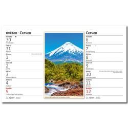 Stolní kalendář 2022 - Výšky hor