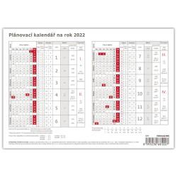 Stolní kalendář 2022 - Plánovací karta