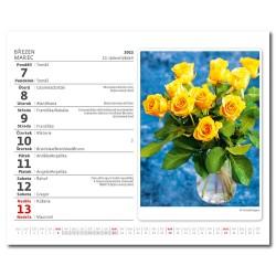 Stolní kalendář 2022 MiniMax - Květiny/Kvetiny