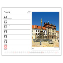 Stolní kalendář 2022 MiniMax - Naše města