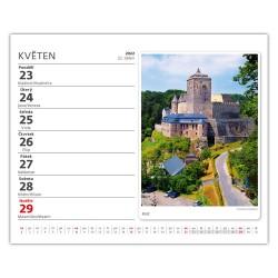 Stolní kalendář 2022 MiniMax - Naše hrady a zámky