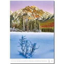 Nástěnný kalendář 2022 - Mountains/Berge/Hory
