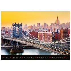 Nástěnný kalendář 2022 - Bridges