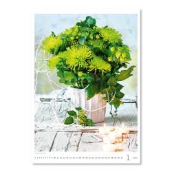 Nástěnný kalendář 2022 - Magic Flowers/Magische Blumen/Živé květy