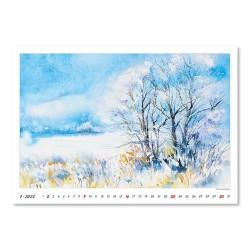 Nástěnný kalendář 2022 - Watercolour Scenery