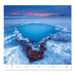 Nástěnný kalendář 2022 - Aqua