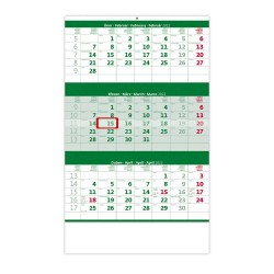 Nástěnný kalendář 2022 - Tříměsíční zelený