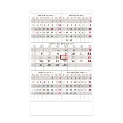 Nástěnný kalendář 2022 - Pětiměsíční šedý