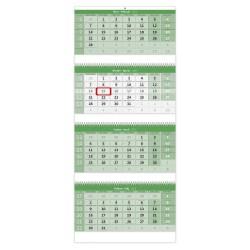 Nástěnný kalendář 2022 - Čtyřměsíční GREEN/Štvormesačný  GREEN