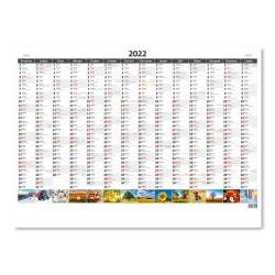 Nástěnný kalendář 2022 - Plánovací roční mapa A1 obrázková