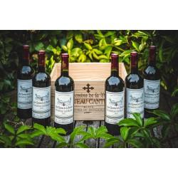 dárkový set červeného vína LES CHEMINS DE LA VIOLETTE DU CHÂTEAU CANTELOUP 2016