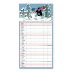 Nástěnný kalendář 2022 Rodinný plánovací Krteček XXL