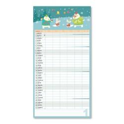Nástěnný kalendář 2022 Rodinný plánovací XXL