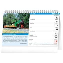 Stolní kalendář 2022 Vlaky a železnice