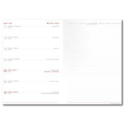 Týdenní diář 2022 Canvas A5 s poznámkami - béžová
