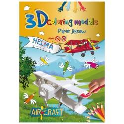 3D omalovánky - Letadlo