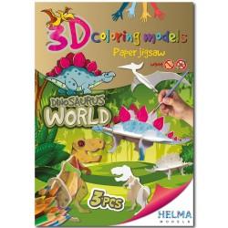 3D omalovánky - Dinosauří svět