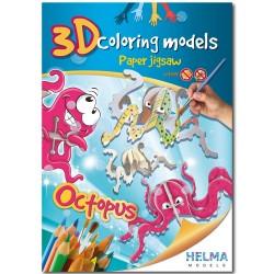 3D omalovánky - Chobotnice