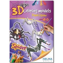 3D omalovánky - Pavouk