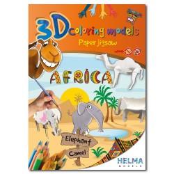 3D omalovánky - Afrika