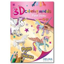 3D omalovánky - Pegas & Jednorožec