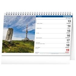 Stolní kalendář 2022 Kolem Česka stezkami Via Czechia