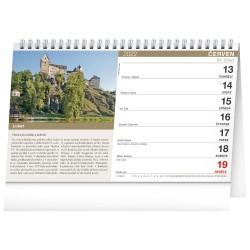 Stolní kalendář 2022 Hrady a zámky