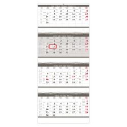Nástěnný kalendář 2022 - Čtyřměsíční skládaný šedý